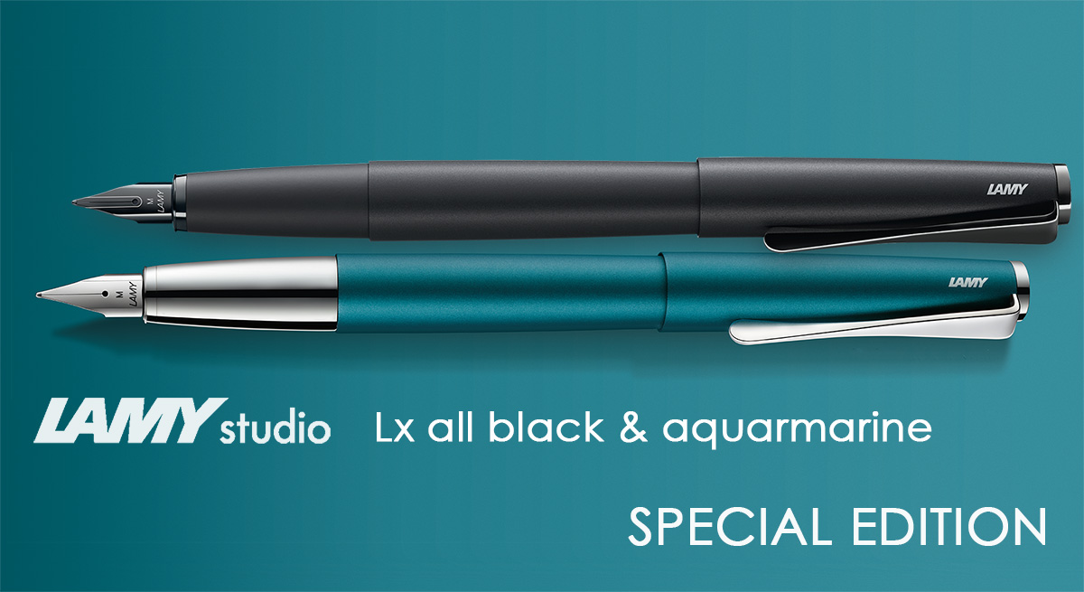 Lamy Studio Aquamarine en Lx All Black Special Edition